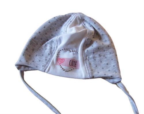 Kojenecká čepička cute - šedá