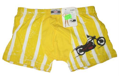 Chlapecké trenkoslipy motorka - žluté pruh