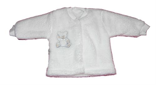 Kojenecký zateplený kabátek - bílý medvídek
