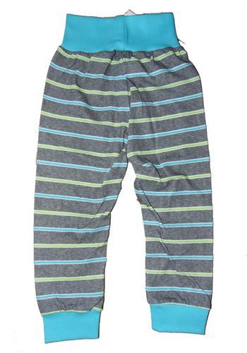 Bavlněné teplákové kalhoty - proužek