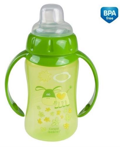 Tréningová hrneček/lahvička s úchyty 320ml - zelený s úchyty