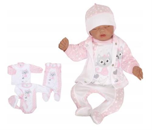 4 - dílná kojenecké souprava - kočička