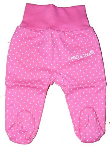 kojenecké polodupačky puntik - růžové