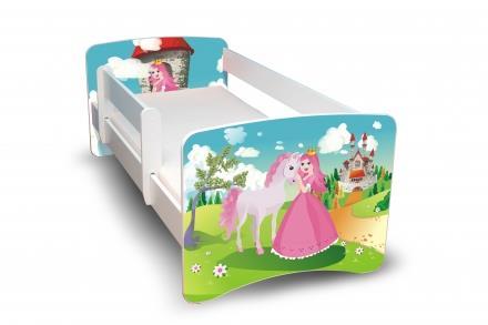 dětská postel s obrázkem