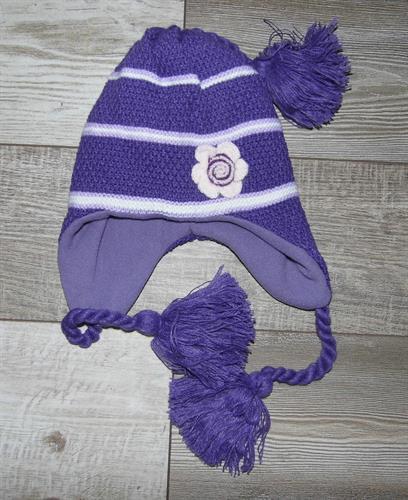 Dívčí zimní čepice - fialová