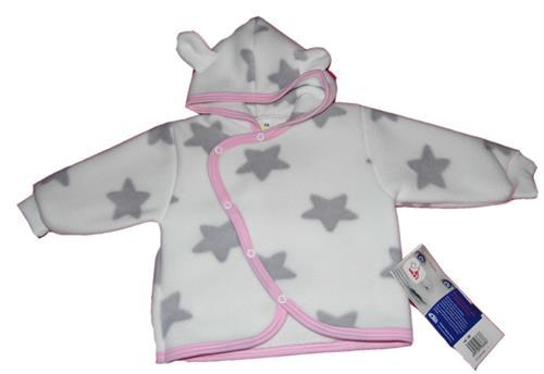 Kojenecký fleesový kabátek - hvězdičky