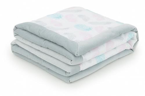Oboustranná deka velvet - pírka