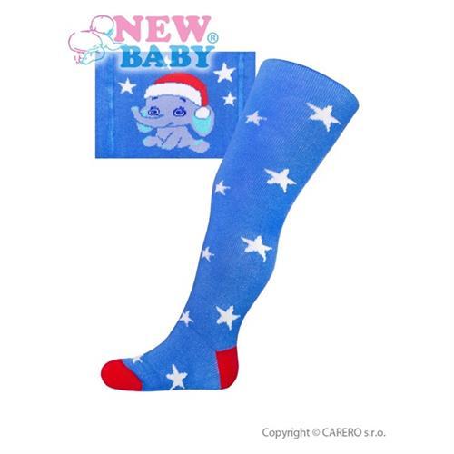 bavlněné punčocháčky New Baby modré se slonem