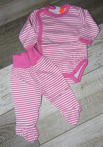 2 - dílná kojenecké souprava - růžový pruh