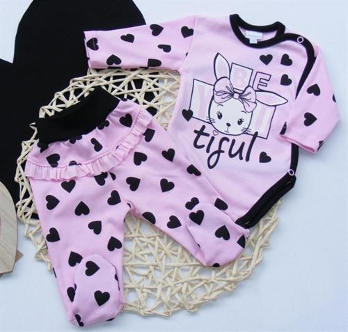 2 - dílná kojenecká souprava - růžová