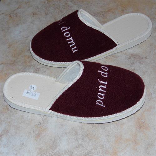 domácí obuv - pantofle paní domu