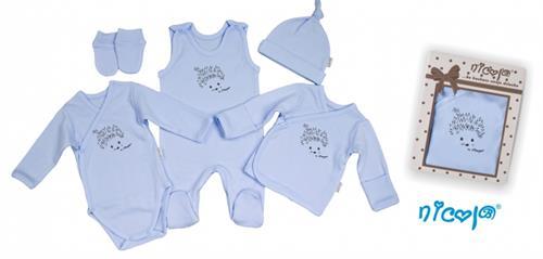 5 - dílná kojenecká souprava - ježek