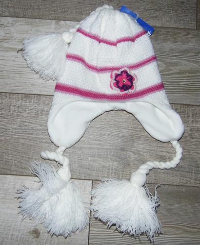 Dívčí zimní čepice - bílá