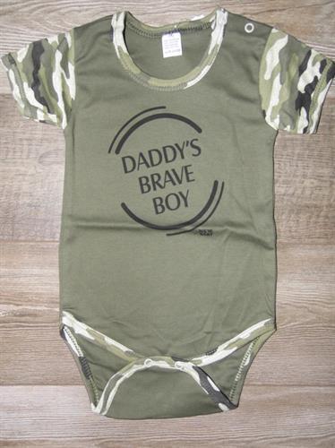 Kojenecké body krátký rukáv - Daddys brave boy