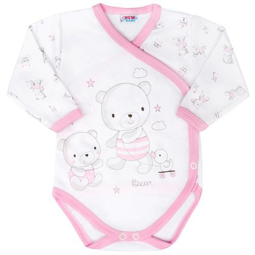 kojenecké body s bočním zapínáním - růžové
