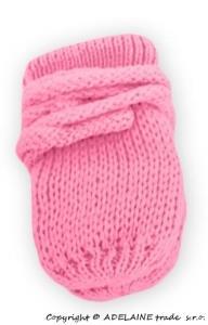 Kojenecké pletené rukavičky - růžové