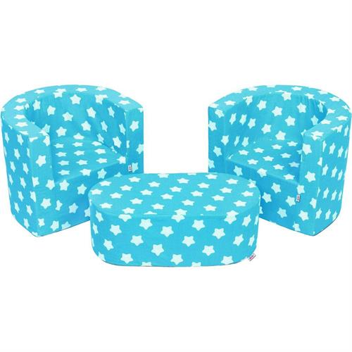 Dětská sedací souprava New Baby hvězdičky tyrkysová