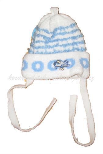 Kojenecké zateplená čepice - bílá