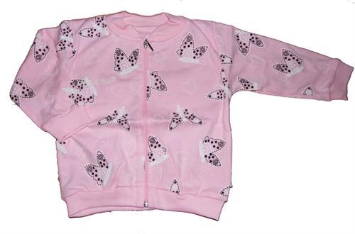 Kojenecká mikina Vejnar -  růžová