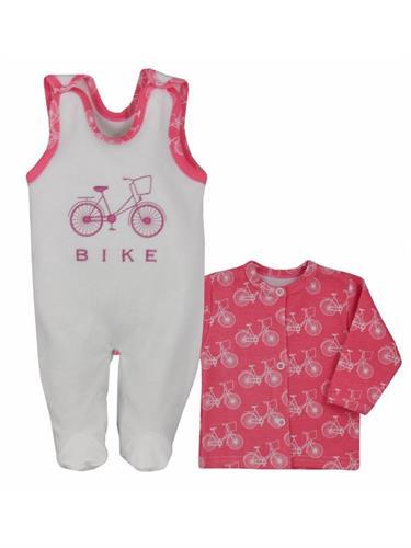 2 - dílná kojenecká souprava - bike růžová