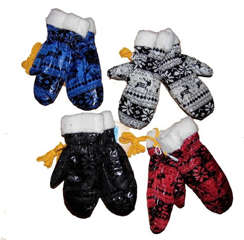 Zimní palcové rukavice - sob