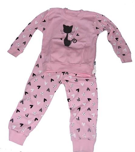 Dětské bavlněné pyžamo - kočička