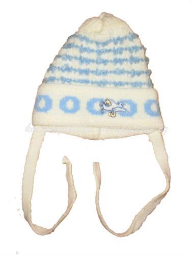 Kojenecké zateplená čepice - béžová