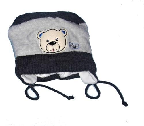 Chlapecká zimní čepička - medvídek