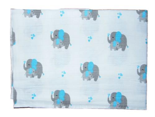 bavlněná tetra osuška - modrý slon