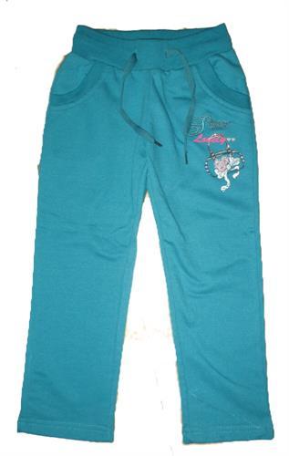 Dívčí teplákové kalhoty s náplety