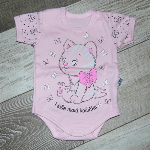 kojenecké body krátký rukáv - růžové