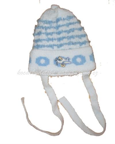 Kojenecké zateplená čepice - modrá