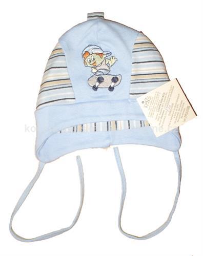Chlapecká kojenecká čepice - modrá