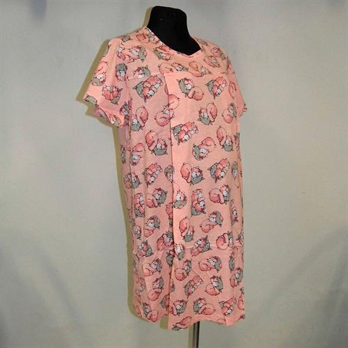 Těhotenská a kojící noční košile s průstřihy- medvídci oranžová