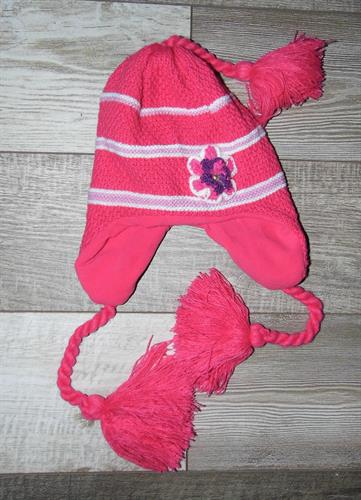 Dívčí zimní čepice - tmavě růžová