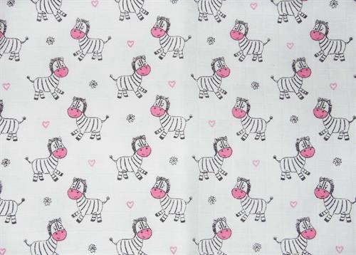 bavlněná tetra osuška - zebra růžová