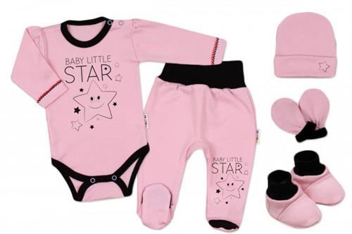 5 - dílná kojenecká souprava - růžová hvězdička
