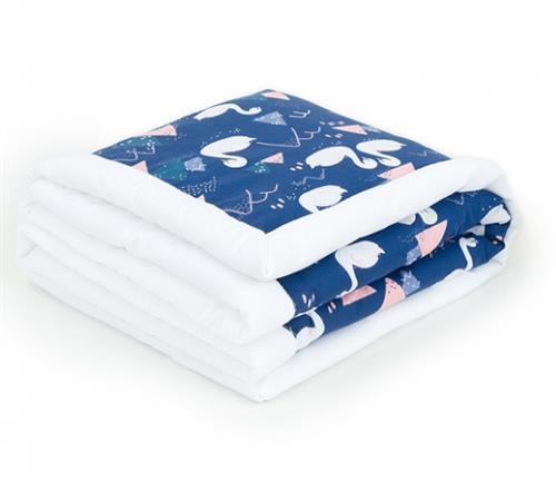 Oboustranná deka velvet - labutě