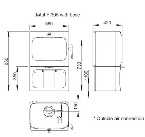 Krbová kamna Jotul F 305 CB B - černý lak