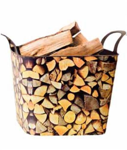 Koš na dřevo Flexi - dekor dřevo