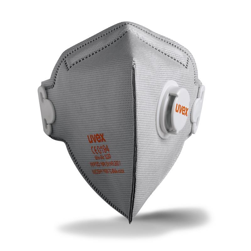uvex - silv-Air c 3220 s karbonem -FFP2- skládací s ventilem