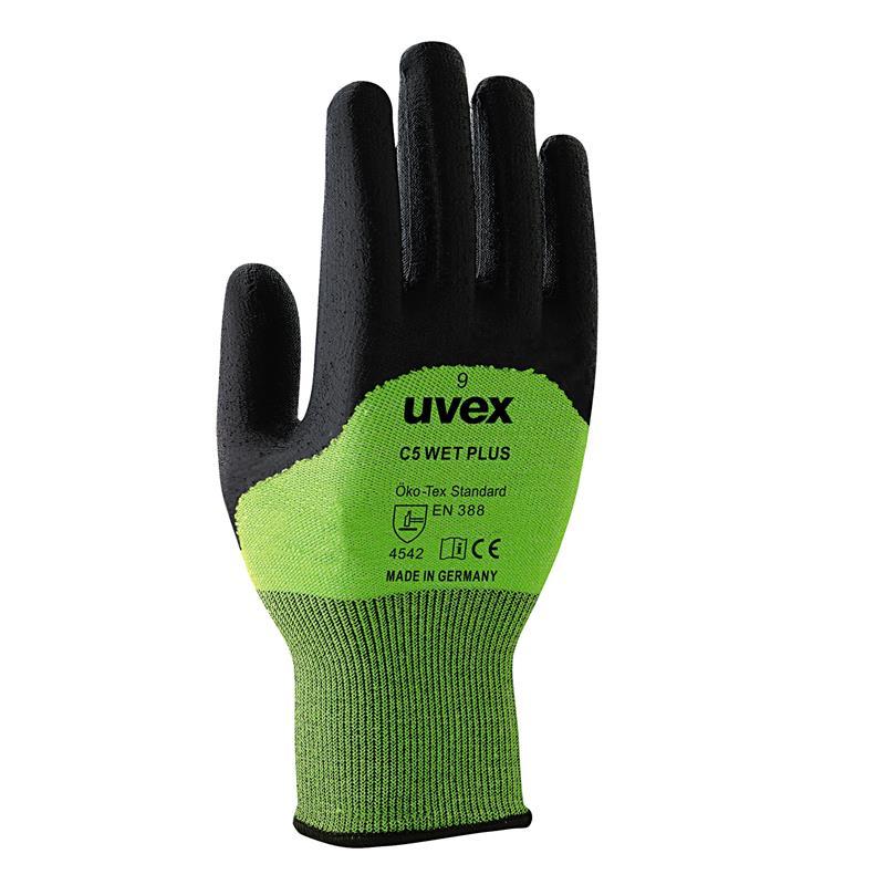 uvex C5 wet +  27 cm,v.7-11,bambus/Dyneema/sklo/polyamid, proti tukům,oleji,celé prsty
