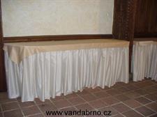Rautové sukně +  teflonový ubrus banketní
