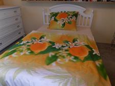 Ložní povlečení bavlněné 1+1 Pomeranč