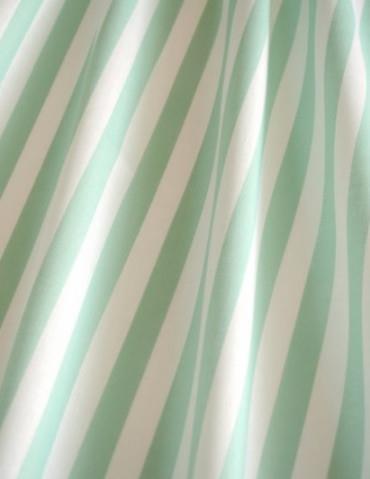 Ložní povlečení bavlněné zelený proužek 12 mm - z babiččiny truhličky