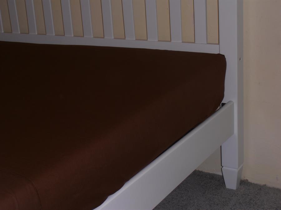 Jerseyové napínací prostěradlo dvoulůžko 180x200 bar.hnědé čoko.