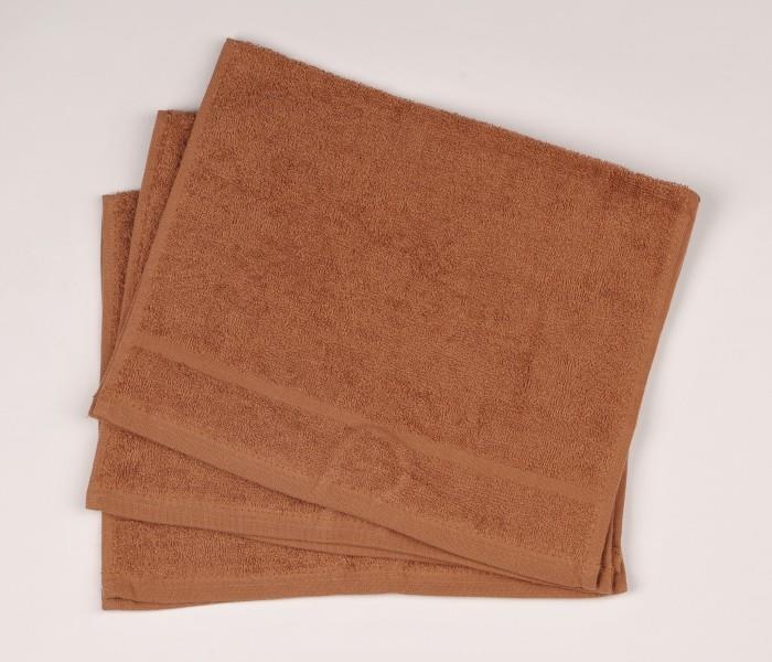 Malý froté ručník 30x50  hnědý