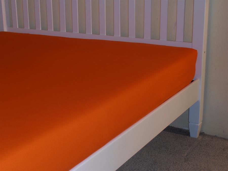 Jerseyové napínací prostěradlo dvoulůžko 180x200 bar.oranžová