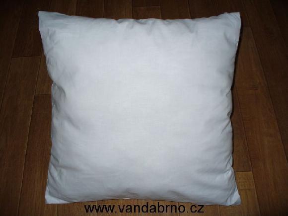 Plněný polštářek bílý -  40x40
