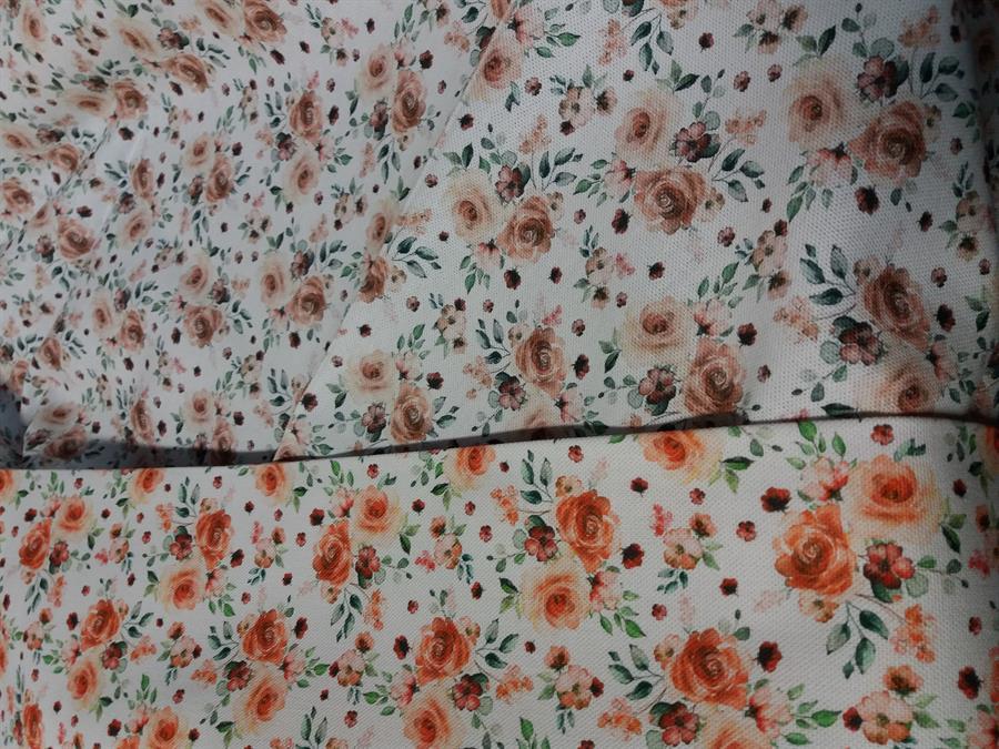 Ubrus bavlněný 140x140  ,, Barren oranž.